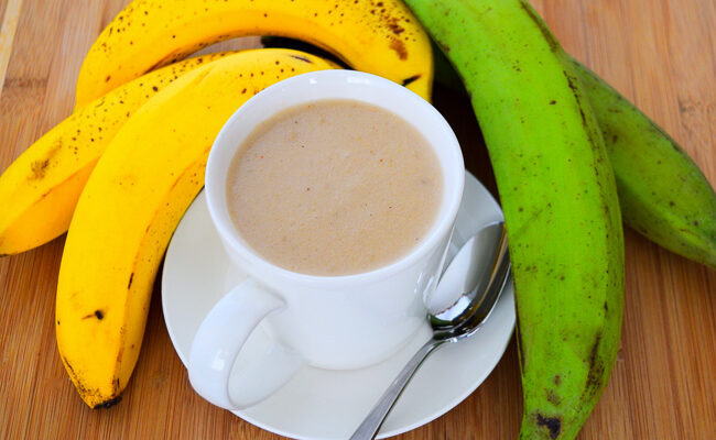 How to make Plantain and Banana Puree   Caribbean Green Living