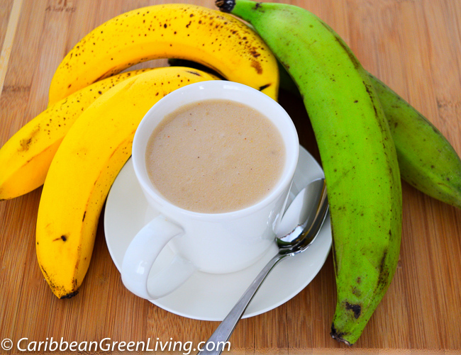 Plantain and Banana Puree (Labouyi Bannann) is sweet, delicious and filling. This is a typical Haitian breakfast.