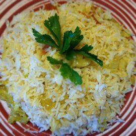 rice with dried baby shrimp 1