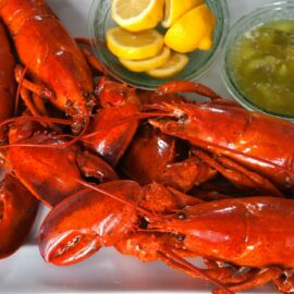 boiled lobster with scallion pepper butter 1