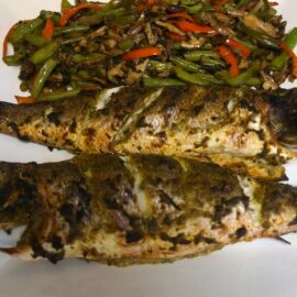 baked branzini with herbs 1