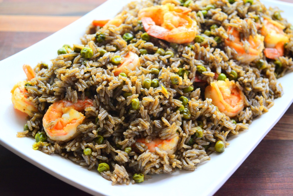 Black Mushroom Rice with Shrimp (Riz Djon-Djon with Shrimp)