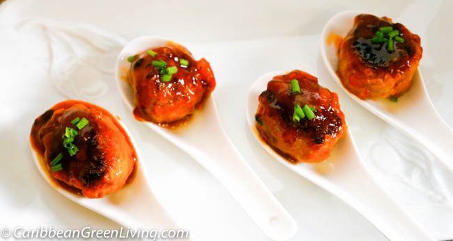 Turkey Meatballs with Pineapple Sauce
