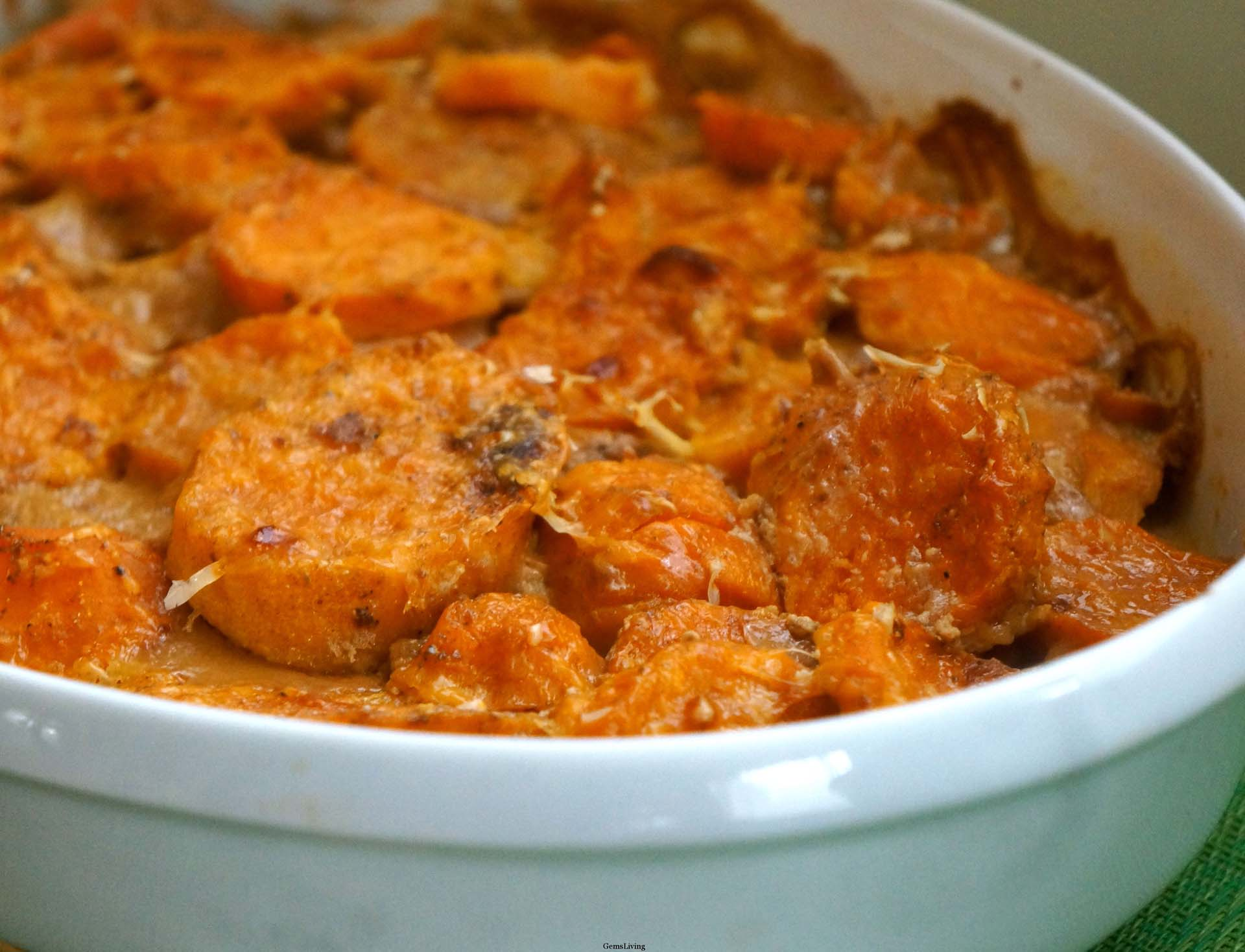 Sweet Potato au Gratin