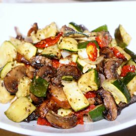 roasted zucchini mushrooms and sundried tomatoes 1