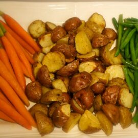 steamed and roasted vegetables 1