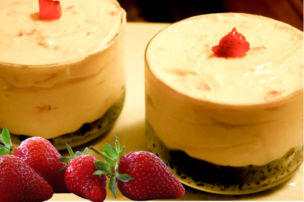 Oreo Strawberry Cheesecake_png
