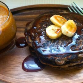 banana buckwheat pancakes 1