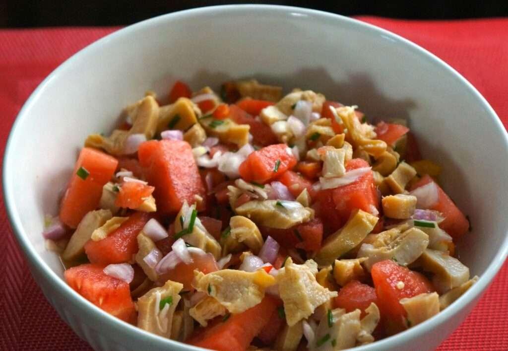 Pimentade de Lambi (Conch and Watermelon Salad)