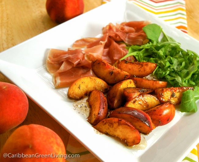 Warm Peach and Prosciutto Salad