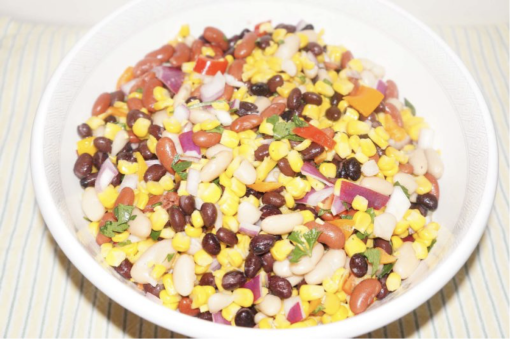 Mixed beans and corn salad