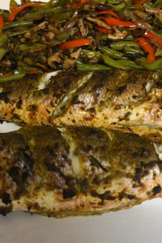 Baked Branzini with Herbs