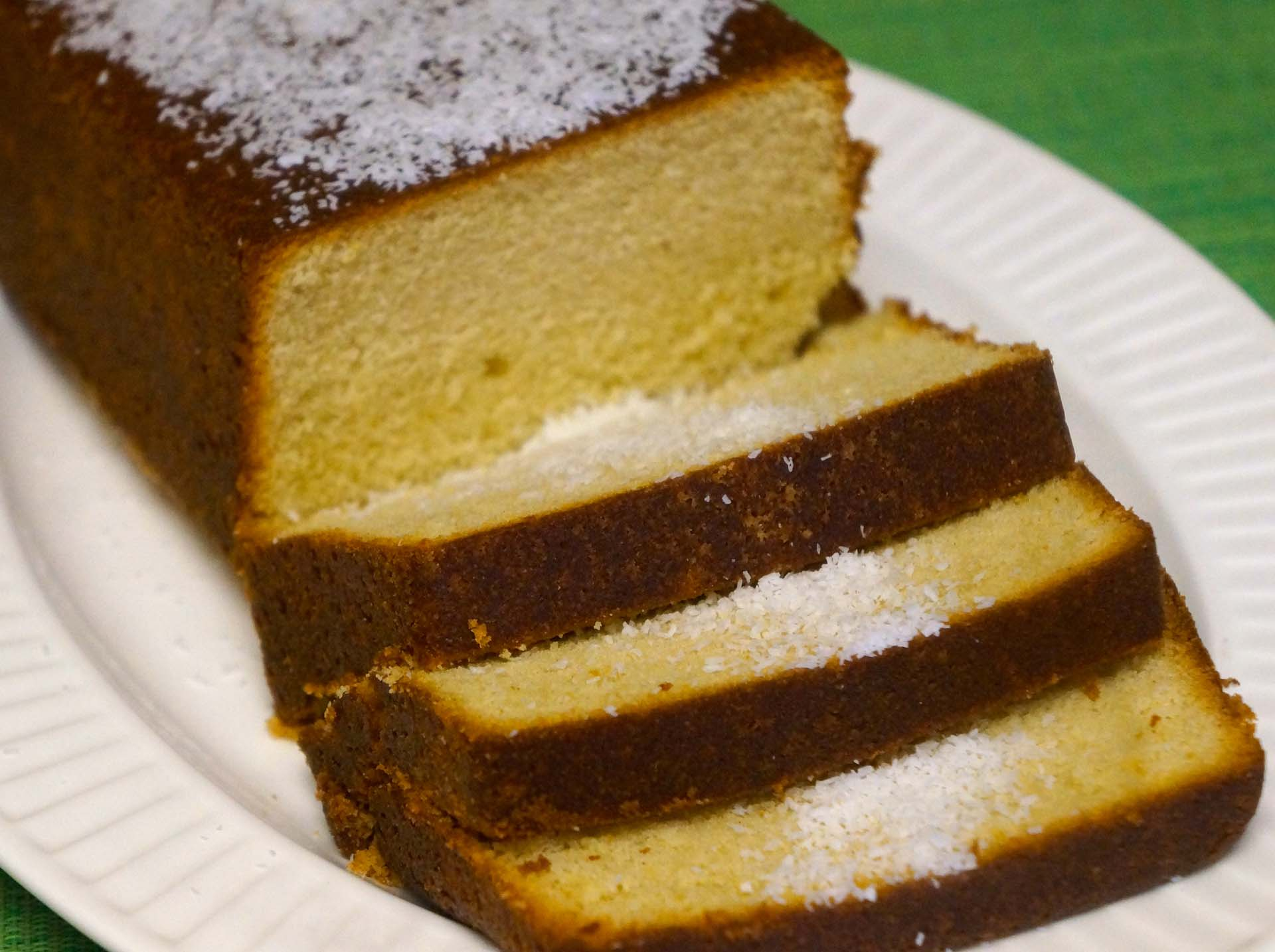 Coconut Pound Cake Using Coconut Milk