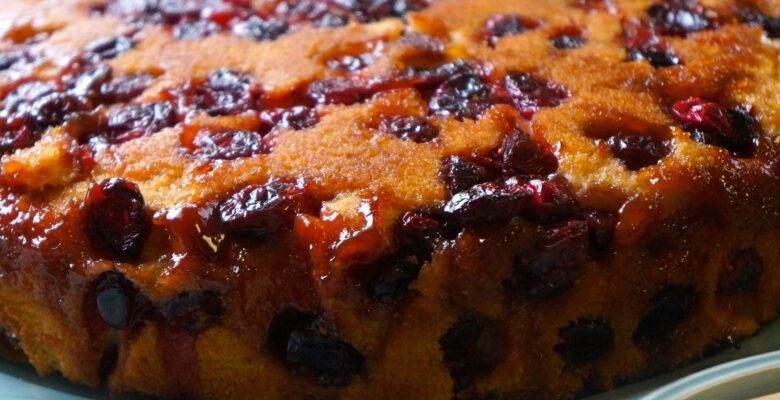 cranberry-upside-down-cake - caribbeangreenliving.com