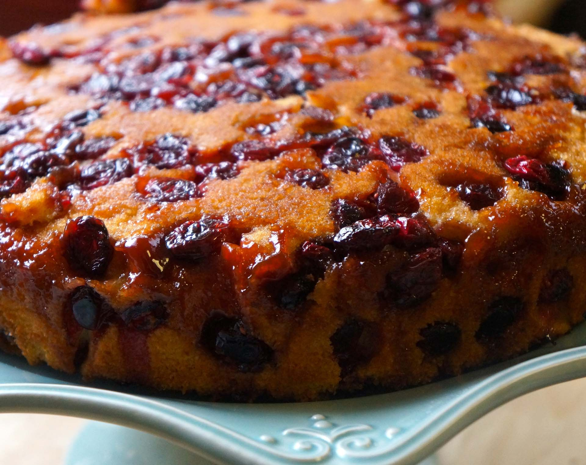 Cranberry Upside-Down Cake, a delightful dessert for the holidays ...