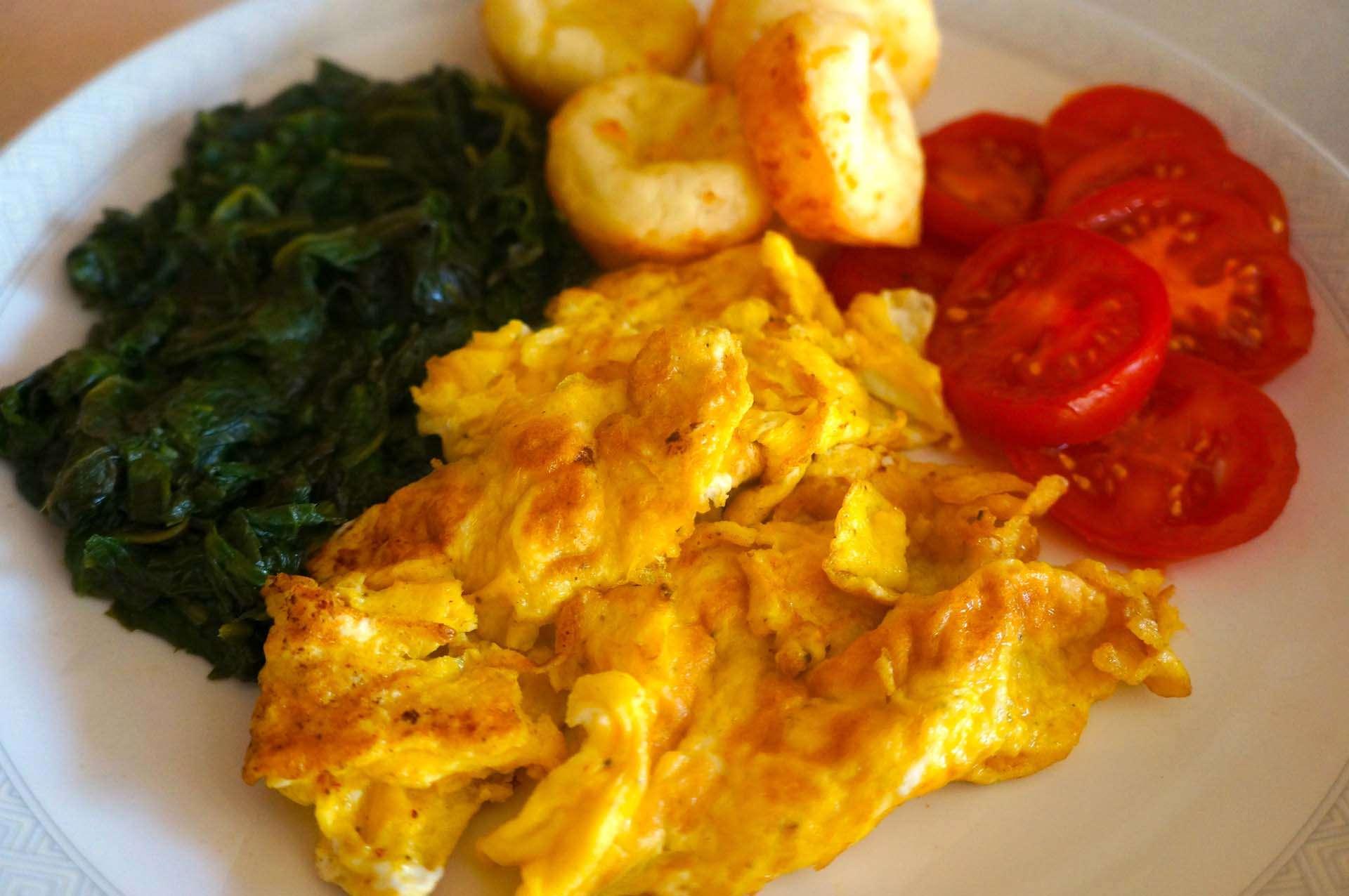 Fried Eggs with Habanero Grapefruit Hot Sauce