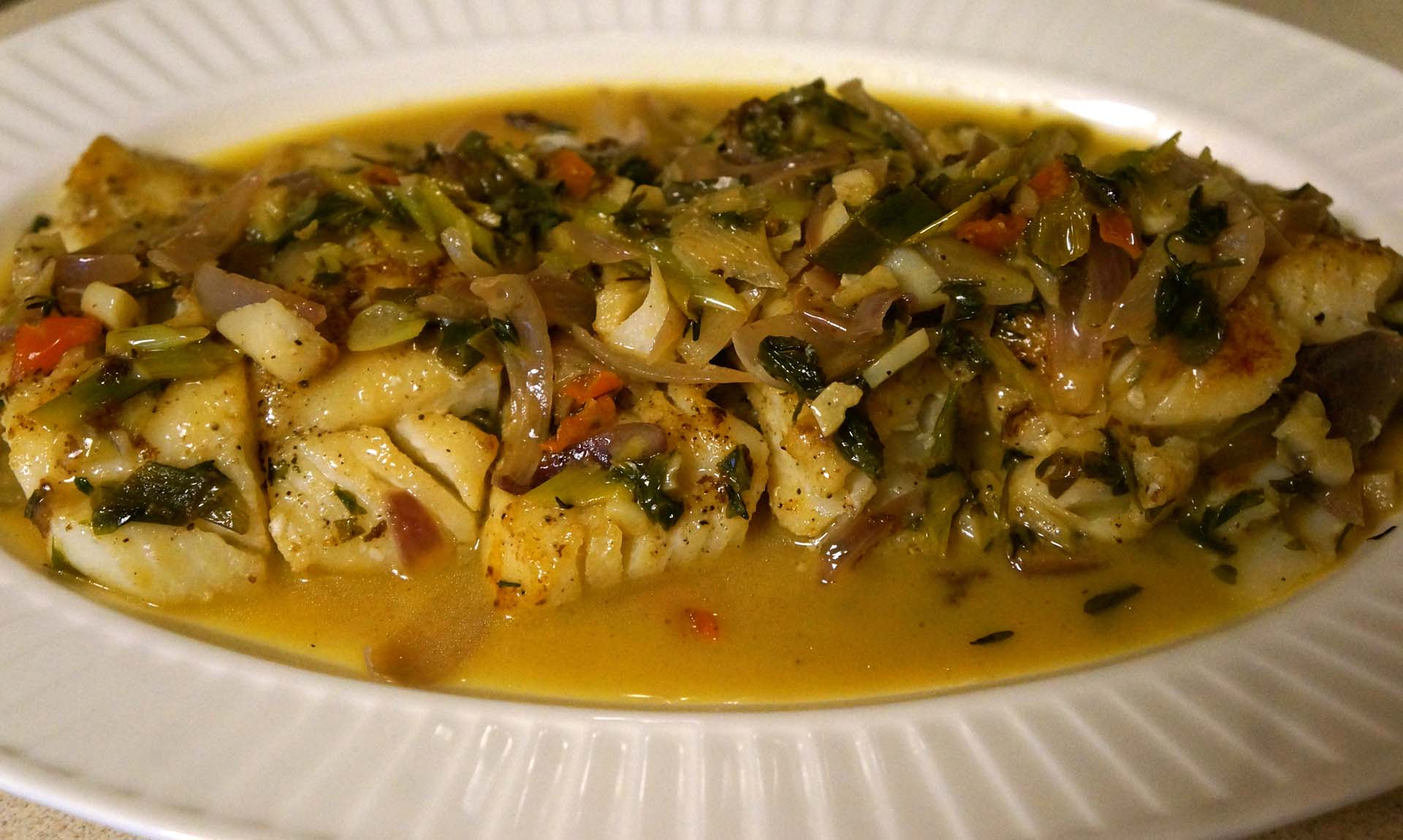 Spicy cod fish with white wine caribbean green living for White wine with fish