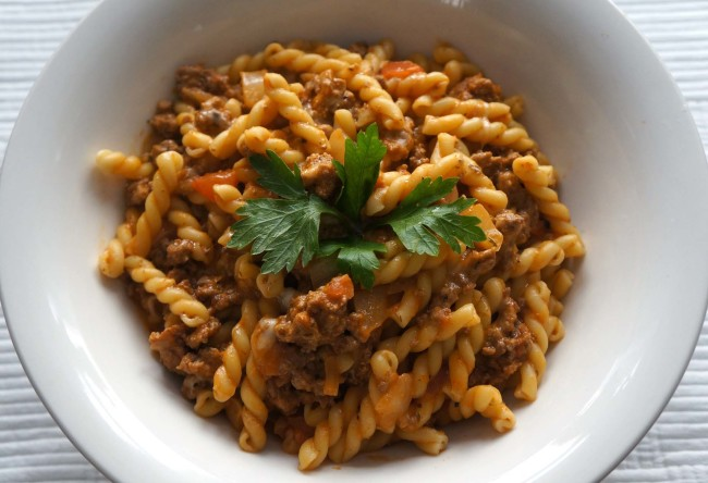 Stovetop Ground Turkey with Pasta - caribbean green living