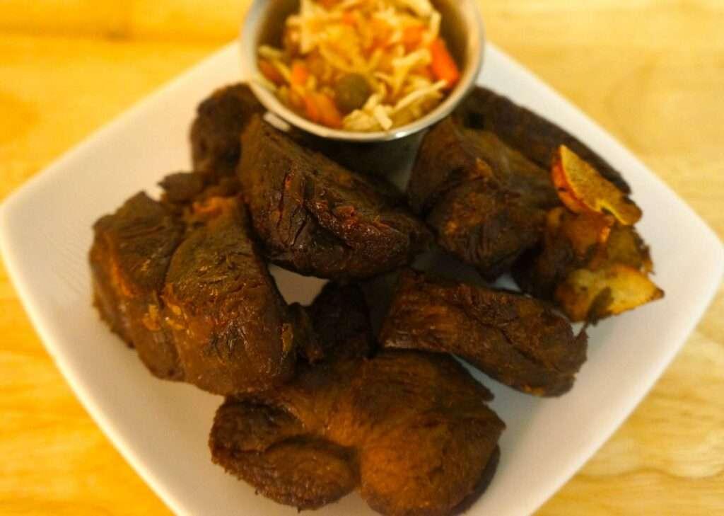 tassot de cabrit or fried goat meat