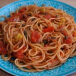 Tasty Anchovies, Capers Spaghetti