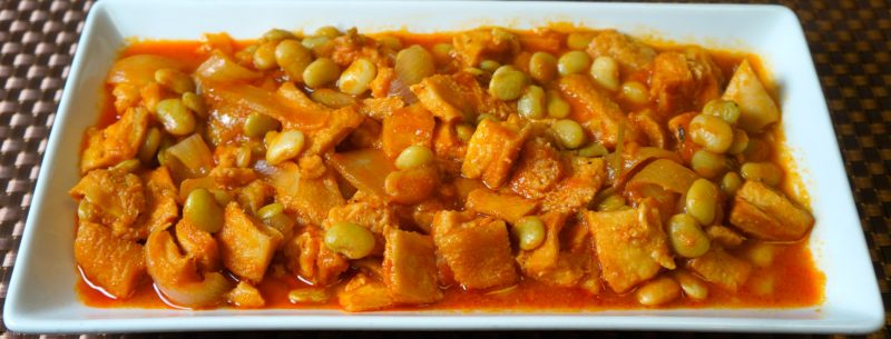 Beef Tripe with Lima Beans Stew - caribbeangreenliving.com