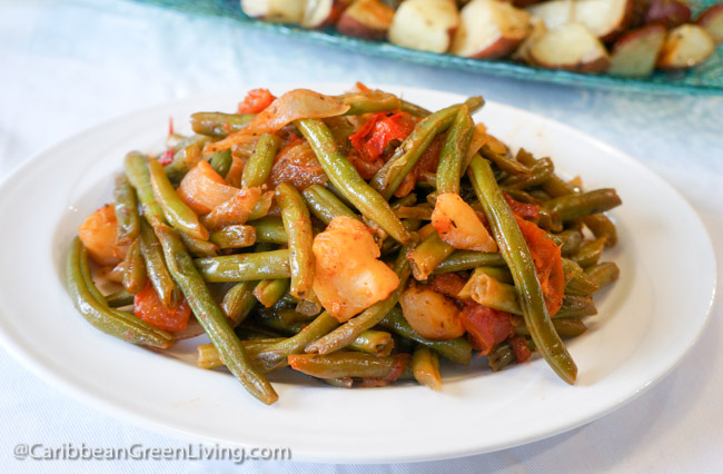 String Beans, Tomato and Apple