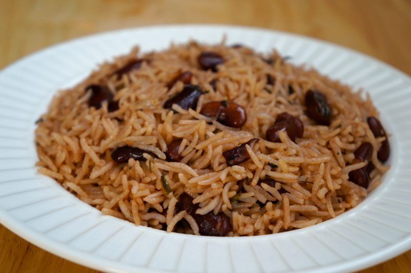 Rice With Black Beans Noubess Caribbean Green Living