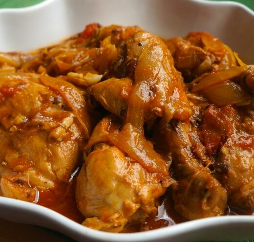Chicken in Creole Sauce - caribbeangreenliviing.com