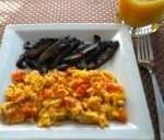 Egg, tomato and portabella mushroom - caribbeangreenliving.com