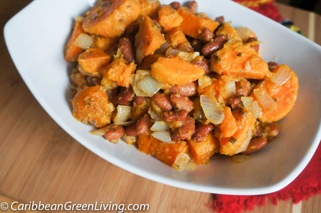 Sweet Potatoes and Red Kidney Beans Fricasee