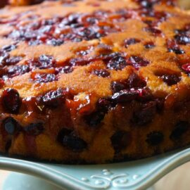 cranberry upside down cake 1