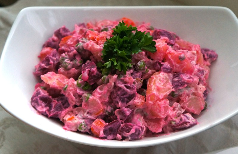 Haitian Salade Russe Russian Salad Caribbean Green