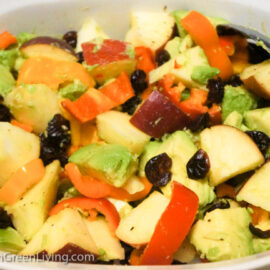 Avocado Peppers Apple and Cranberry Salad 2