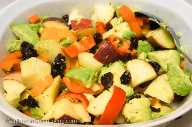 Avocado, Peppers, Apple and Cranberry Salad