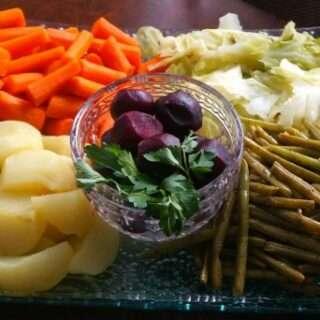 Boiled Veggies for Good Friday Dinner