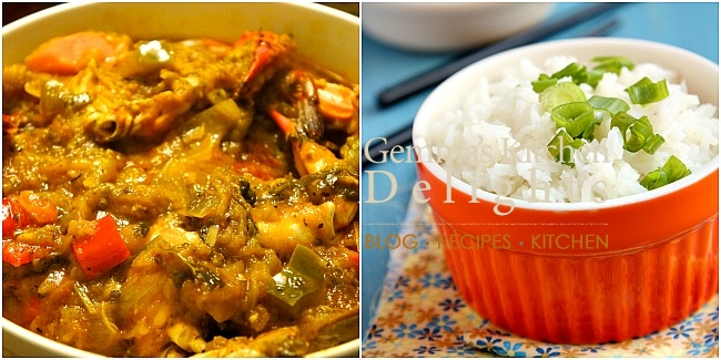 Legume and rice collage