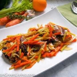 Tuna with orange sauce 1 2