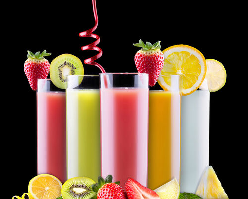 tasty summer fruits with juice in glass - caribbeangreenliving.com