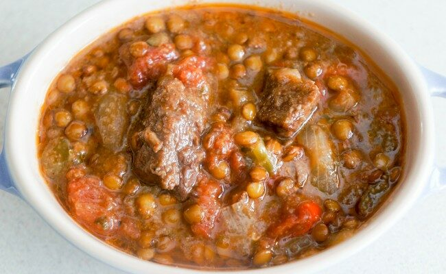 Beef with Green Lentils Stew