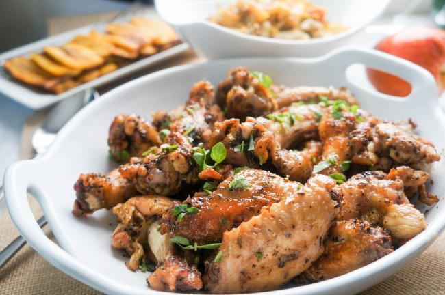 Gemma's Spicy Roasted Chicken Wings
