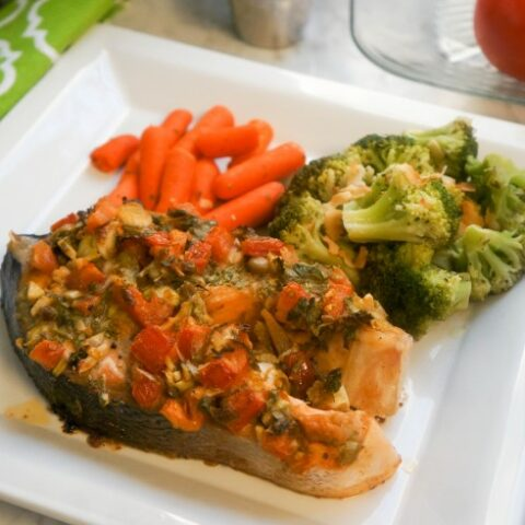Roasted Salmon with Tomatoes