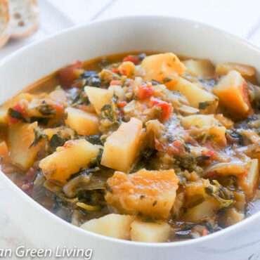 Papaya Eggplant and Watercress Stew 1 1