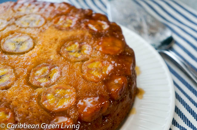 Upside Down Caremelized Banana Cake