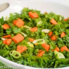 Mustard Greens and Papaya Salad 1 2