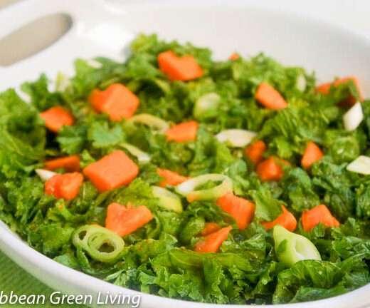Mustard Greens and Papaya Salad