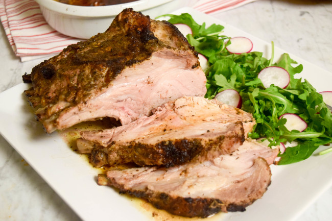 Pork Roast Sliced - caribbeangreenliving.com