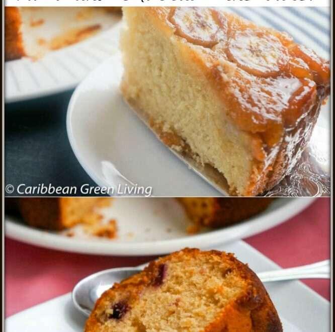 Banana Cake or Plum and Muscat Wine Cake