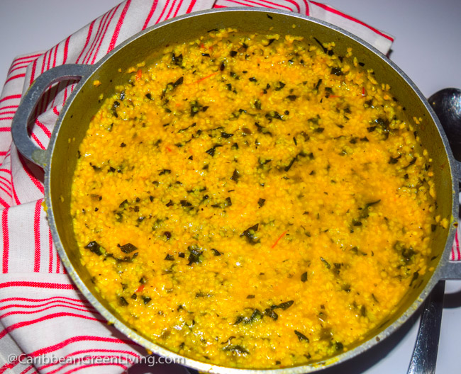 Polenta with Spinach