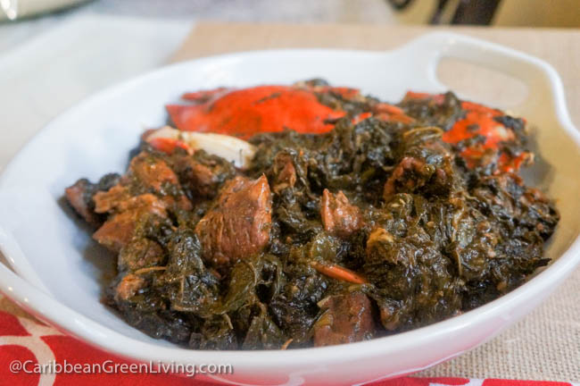 Lalo with Beef Spinach and Blue Crabs