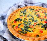 Spinach and Sweet Peppers Pie - caribbeangreenliving.com